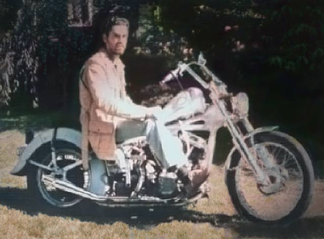 John on his '55 Harley Panhead.