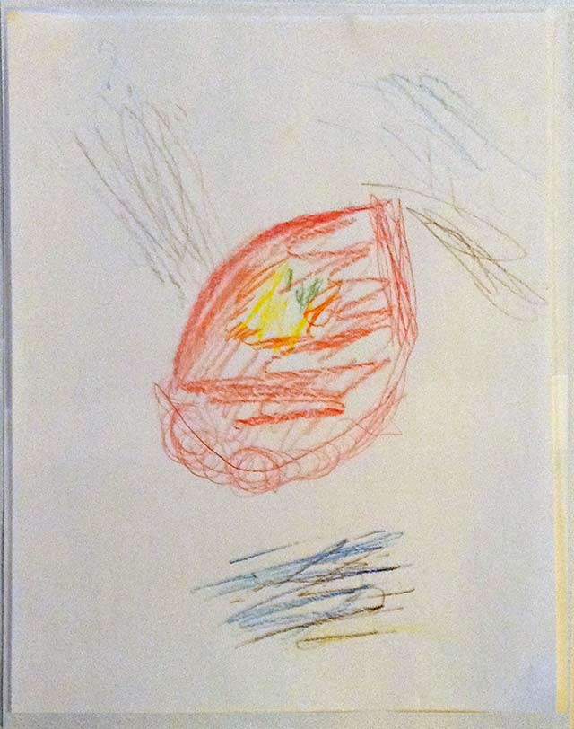 Abstract expressionist drawing