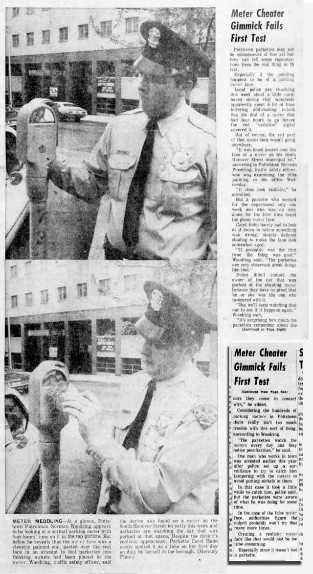 A newspaper clipping from May of 1973.