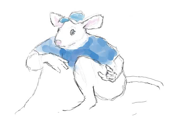Quick drawing of the mouse ballplayer.
